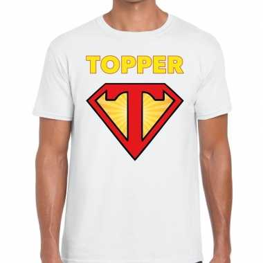 Toppers - super topper logo t- shirt wit heren
