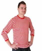 Witte dorus shirt rood met wit voor heren